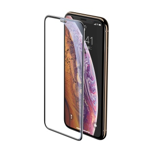 BASEUS Cellular Dust Prevention Tempered Glass Full Screen Protector for iPhone XS Max 6.5 inch - Black