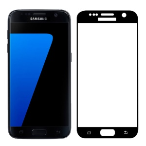 FEMA Tempered Glass Screen Protector for Samsung Galaxy S7 G930 3D Curved Silk Print Full Size - Black