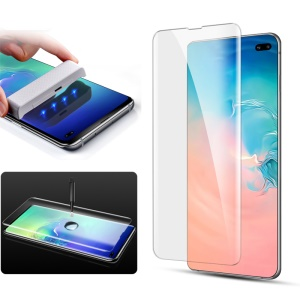 MOCOLO for Samsung Galaxy S10 Plus 3D Curved Full Cover [UV Light Irradiation] Tempered Glass Screen Protector UV Film