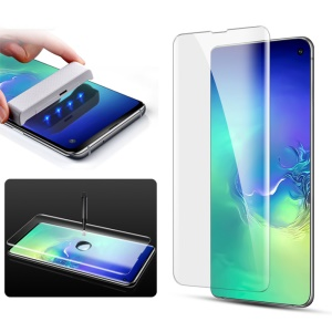 MOCOLO 3D Curved Full Cover [UV Light Irradiation] Tempered Glass Screen Protector for Samsung Galaxy S10