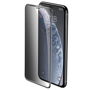 BASEUS for iPhone XR 6.1 inch Cellular [Anti-spy] Anti-dust Tempered Glass Full Size Screen Protector Film - Black