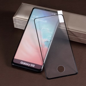 Black Frame Full Glue Tempered Glass Full Covering Screen Protector Film for Samsung Galaxy S10