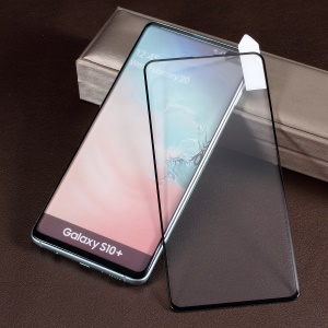 RURIHAI 3D Curved Full Glue Full Cover Tempered Glass Protector (Support Ultrasonic Unlock) for Samsung Galaxy S10 Plus