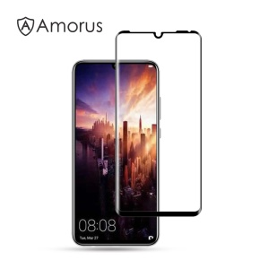 AMORUS [Full Glue] Full Screen 3D Curved Tempered Glass Shield Anti-explosion for Huawei P30 Pro