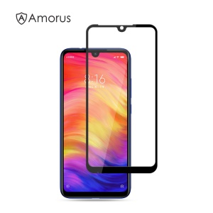 AMORUS Full Glue Silk Printing Tempered Glass Full Screen Protector for Xiaomi Redmi Note 7 / Note 7 Pro (India)