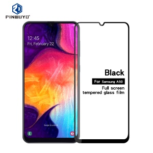 PINWUYO Full Size 2.5D Arc Edge Tempered Glass Screen Protector Film Anti-explosion for Samsung Galaxy A50/A50s/A30s/A20/A30/M30/A40s