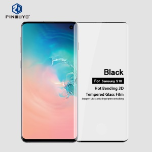PINWUYO 3D Curved Tempered Glass Screen Protective Film for Samsung Galaxy S10