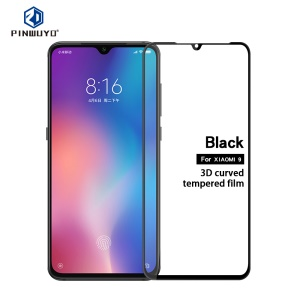 PINWUYO 3D Curved Anti-explosion Full Size Tempered Glass Screen Protector for Xiaomi Mi 9/Mi 9 Explore