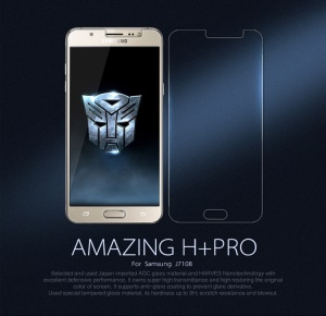 NILLKIN Amazing H+PRO for Samsung Galaxy J7 (2016) Tempered Glass Screen Film Nanometer Anti-Explosion
