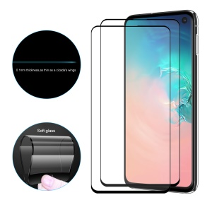 2Pcs/Pack HAT PRINCE Full Cover 0.1mm 9H Soft Glass Screen Protector Film for Samsung Galaxy S10e
