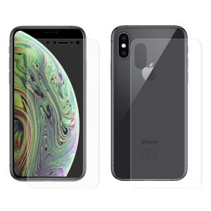 HAT PRINCE 3D Full Covering Front + Back Film Soft Screen Protector Cover for iPhone XS/X