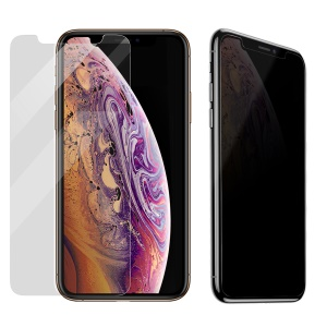 BASEUS 0.3mm Privacy Protection Tempered Glass Full Screen Protector for iPhone XS Max 6.5 inch - Transparent