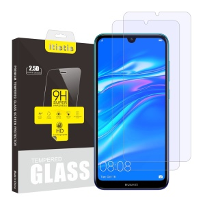 2Pcs/Set ITIETIE 2.5D 9H Tempered Glass Screen Film for Huawei Y7 (2019)