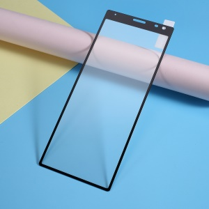Full Size Silk Printing Tempered Glass Screen Protector Film (Full Glue) for Sony Xperia 10 Plus