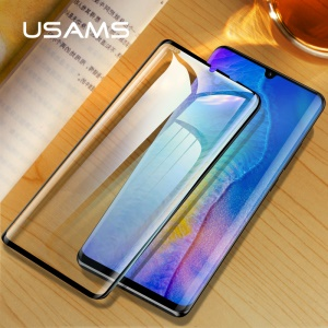 USAMS 0.33mm 9H 3D Tempered Glass Full Size Screen Protector for Huawei P30 Pro