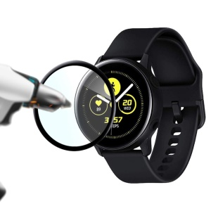 2Pcs/Set 3D Anti-fingerprint Tempered Glass Protective Film for Samsung Galaxy Watch Active