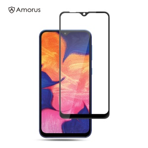 AMORUS 3D Curved Arc Edge Full Glue Tempered Glass Screen Protective Film for Samsung Galaxy A10