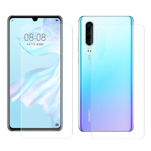 HAT PRINCE 3D Full Covering Front + Back Film Soft Screen Protector for Huawei P30