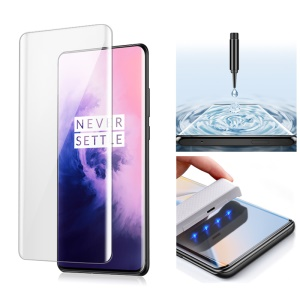 MOCOLO for OnePlus 7 Pro / 7T Pro 3D Curved [UV Light Irradiation] Full Cover Tempered Glass Screen Protector UV Film