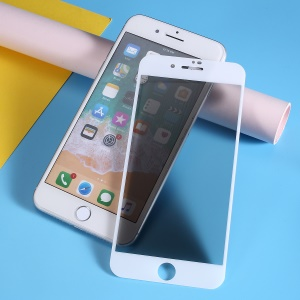 5D Anti-peep Full Screen Coverage Tempered Glass Protector Film for iPhone 7 Plus / iPhone 8 Plus - White