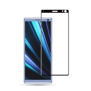 MOCOLO 3D Curved-screen Tempered Glass Full Coverage Screen Protector for Sony Xperia 10 Plus - Black