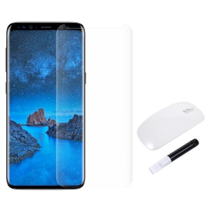 RURIHAI 3D Full Glue UV Liquid Tempered Glass Screen Film + UV Lamp for Samsung Galaxy S9 - Transparent