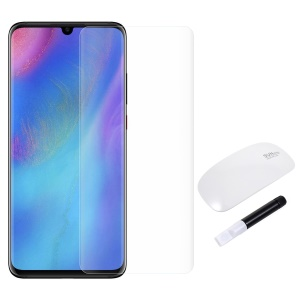 RURIHAI Ultra Clear 3D Full Glue UV Liquid Tempered Glass Screen Film + UV Lamp for Huawei P30 Pro - Transparent