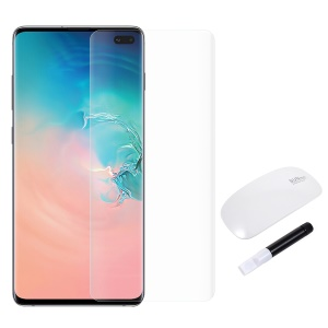 RURIHAI 3D Full Glue UV Liquid Tempered Glass Screen Film +Reusable UV Lamp for Samsung Galaxy S10 Plus - Transparent