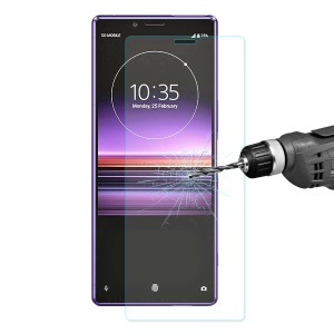 ENKAY 0.26mm 9H 2.5D Arc Edge Tempered Glass Screen Film for Sony Xperia 1