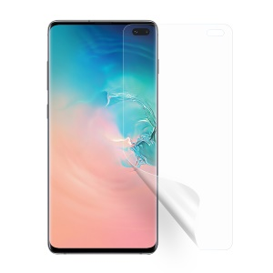 Anti-explosion Full Cover Anti-glare Clear Screen Soft Film for Samsung Galaxy S10 Plus - Transparent