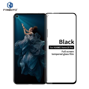 PINWUYO Anti-explosion Full Coverage Tempered Glass Guard Film for Huawei Honor 20 Pro - Transparent