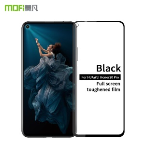MOFI 2.5D Arc Edge Full Coverage Diamoned 9H Tempered Glass Screen Protector for Huawei Honor 20 Pro - Black