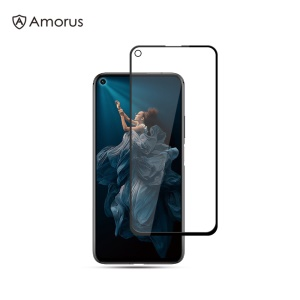 AMORUS Silk Printing Anti-explosion Tempered Glass Full Screen [Full Glue] Film for Huawei Honor 20 Pro