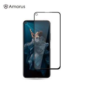 AMORUS Silk Printing Anti-explosion Tempered Glass Full Screen Film [Full Glue] for Huawei Honor 20