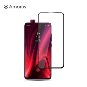 AMORUS Silk Print Full Coverage Full Glue 9H Tempered Glass Screen Film for Xiaomi Redmi K20 / K20 Pro / Mi 9T / Mi 9T Pro
