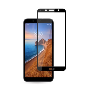 MOCOLO Full Coverage Full Glue Silk Print Tempered Glass Screen Protective Film for Xiaomi Redmi 7A - Black