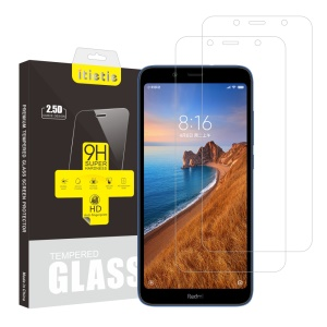 ITIETIE 2Pcs/Set 2.5D 9H Tempered Glass Phone Screen Protectors for Xiaomi Redmi 7A
