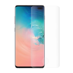 Curved Full Size Tempered Glass Screen Protector Film Cover for Samsung Galaxy S10 Plus (Fingerprint Unlock)