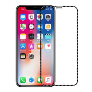 Electroplating Tempered Glass Screen Protector Arc Edges for iPhone 11 Pro 5.8 inch (2019)/ X/XS 5.8 inch - Grey
