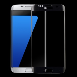 Silk Print Full Coverage Tempered Glass Film for Samsung Galaxy S7 edge G935 - Transparent