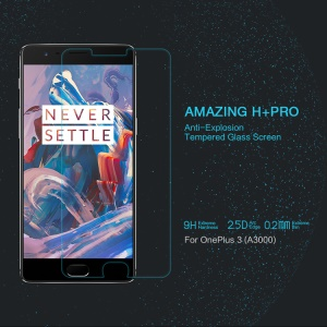 NILLKIN Amazing H+PRO for OnePlus 3 Tempered Glass Screen Protector Nanometer Anti-Explosion