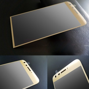 PDGD 3D Curved Complete Covering for LG G5/G5 SE Tempered Glass Screen Protective Film - Gold