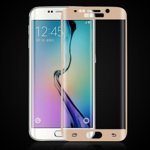HAT PRINCE Tempered Glass Screen Protector Full Coverage for Samsung Galaxy S6 Edge G925 - Gold