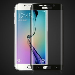 HAT PRINCE 3D Curved Tempered Glass Screen Film for Samsung Galaxy S6 Edge Plus G928 - Black