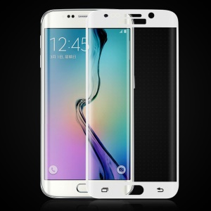 HAT PRINCE 3D Curved Tempered Glass Screen Guard for Samsung Galaxy S6 Edge Plus G928 - White