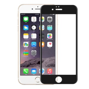 HAT PRINCE 3D 0.33mm Top-grade Carbon Fiber Tempered Glass Screen Protector Full Coverage for iPhone 6s Plus/6 Plus - Black