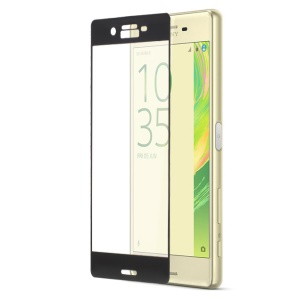 For Sony Xperia X Complete Covering Tempered Glass Screen Protector Film Anti-explosion - Black
