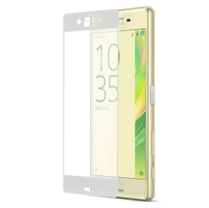 Complete Covering Tempered Glass Screen Protector for Sony Xperia X  Anti-explosion - White