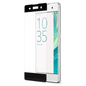 For Sony Xperia XA / XA Dual Complete Covering Tempered Glass Screen Protector Anti-explosion - Black