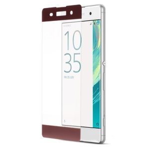 For Sony Xperia XA / XA Dual Full Size Tempered Glass Screen Protector Film Anti-explosion - Rose Gold